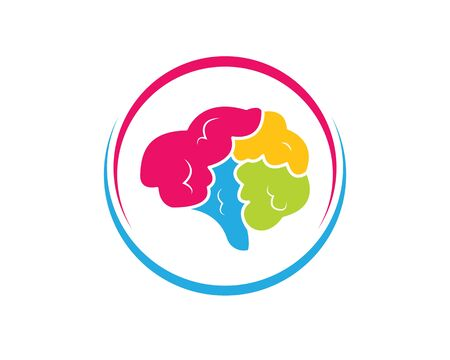 Brain illustration vector icon Logo of idea,think design template Illustration