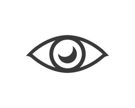 optical eye icon Logo vector Template illustration design