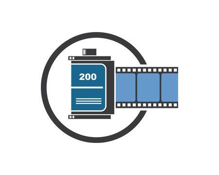 roll filmstrip vector illustration design  template  イラスト・ベクター素材