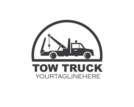 tow truck vector icon logo design template
