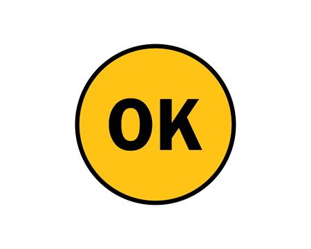 ok sticker quality passed vector icon design Çizim