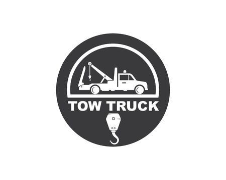 tow truck vector icon logo design template
