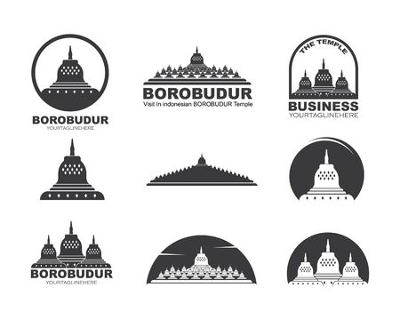 borobudur is indonesian temple one of the words miracles vector illustration design Stock Illustratie