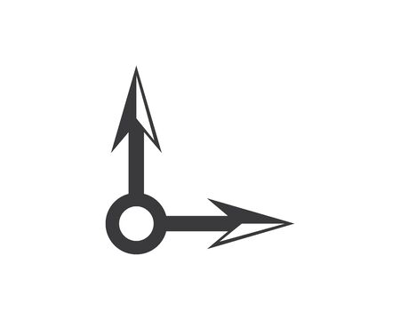 Arrow vector illustration icon Logo of delivery and logistic  business Template design