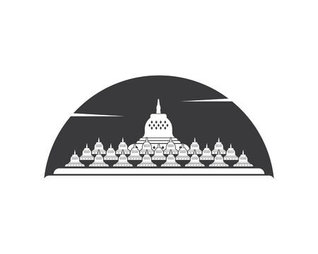 borobudur is indonesian temple one of the words miracles vector illustration design 向量圖像