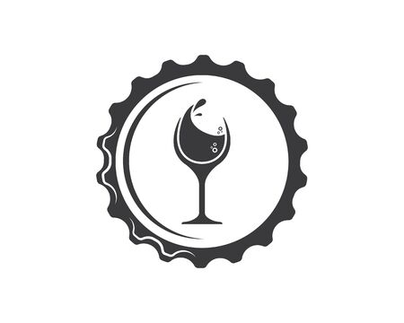 bottle cap icon logo vector illustration