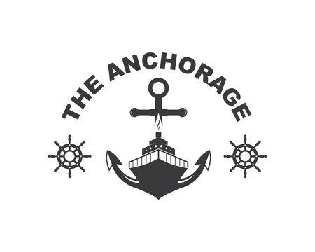nautical Logo vector icon illustration design
