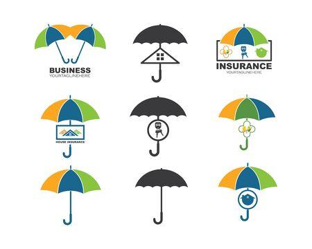 umbrella vector logo icon of insurance property design template