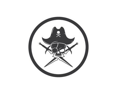pirate vector icon illustration design template