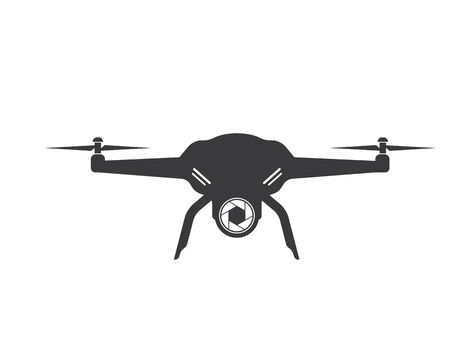 drone icon logo vector illustration design template