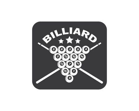 billiard balls icon vector illustration design template