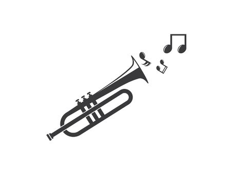 trumpet icon vector illustration design template