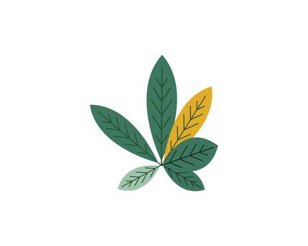 leaf decoration vector illustration background  design Standard-Bild - 133480712