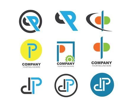 dp letter logo icon illustration vector design Illusztráció