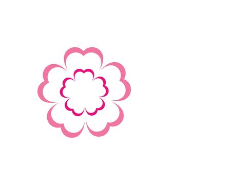 flower icon vector illustration design template