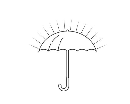 umbrella logo icon  vector illustration template Standard-Bild - 133701797