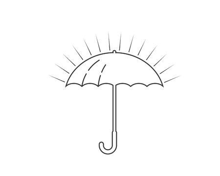 umbrella logo icon  vector illustration template