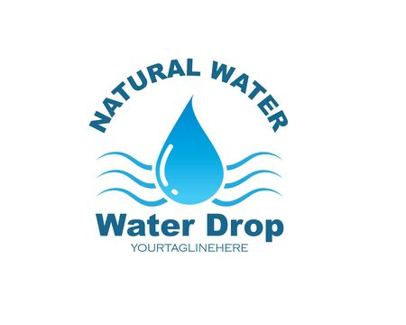 water drop Logo Template vector illustration design Stock fotó - 133701801
