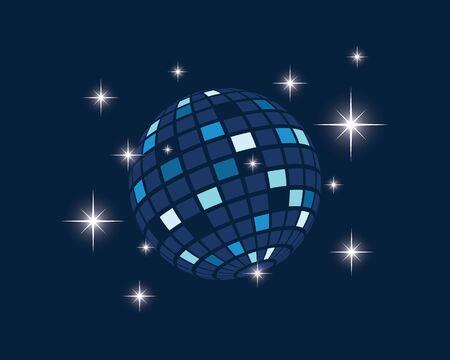 disco ball icon vector illustration design template Standard-Bild - 133796866