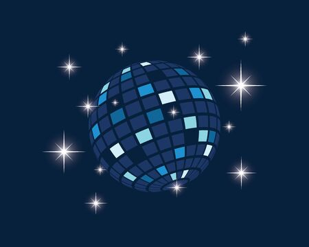 disco ball icon vector illustration design template Illustration