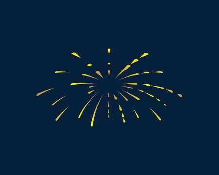 firework vector illustration icon design template