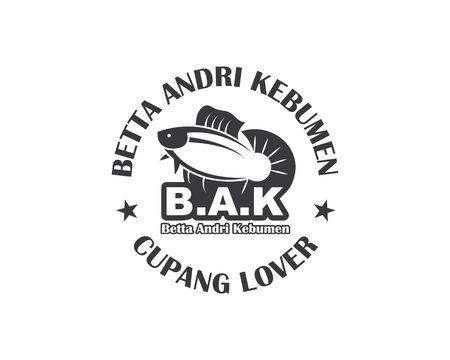 betta fish icon vector illustration design template