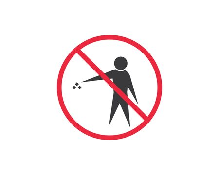 trash can icon lgo vector illustration design template