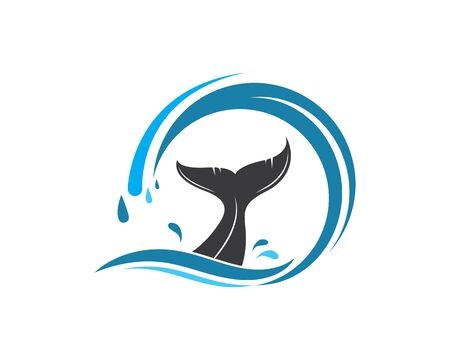 whale tail icon vector illustration design template