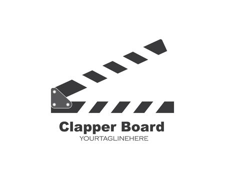 clapperboard  logo icon element vector illustration design Illusztráció