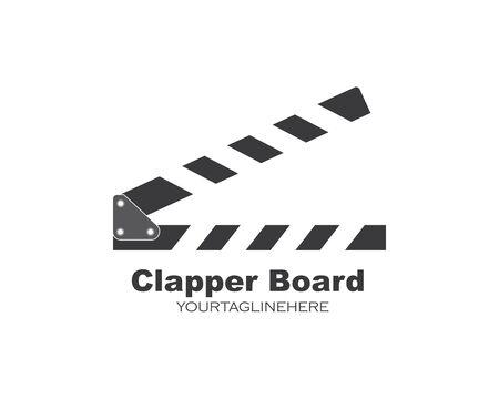 Filmklapper logo pictogram element vector illustratie ontwerp