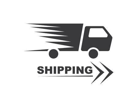truck icon logo vector illustration design template