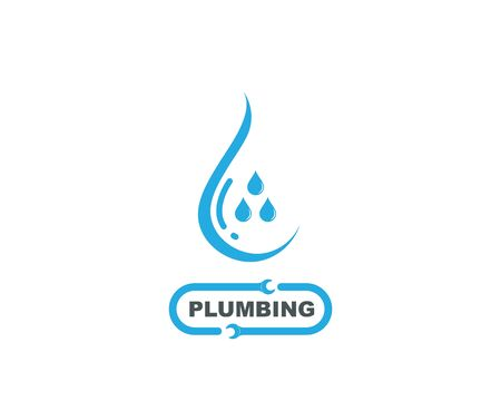 plumbing vector illustration logo icon design Logo