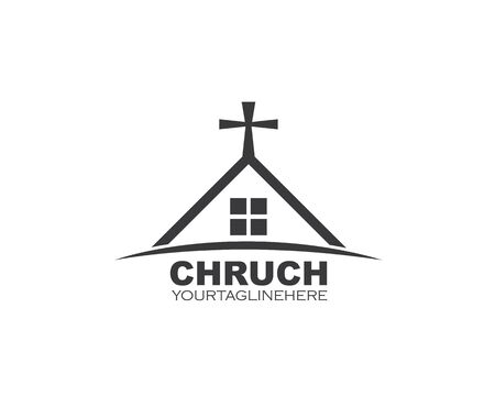 church icon vector illustration design template