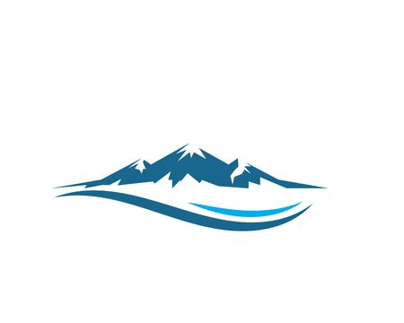 High Mountain icon Logo vector illustration design Template  イラスト・ベクター素材