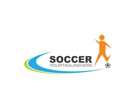 soccer logo and icon illustration vector design