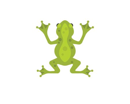 Frog Logo Template vector illustration design