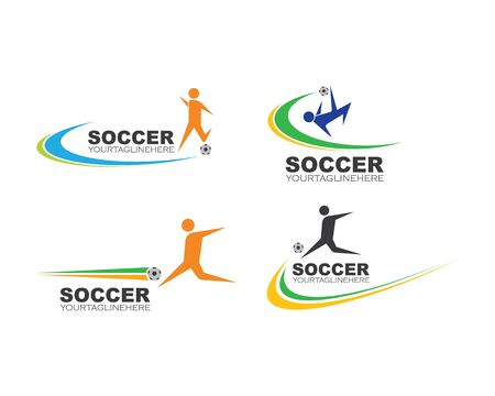soccer logo and icon illustration vector design