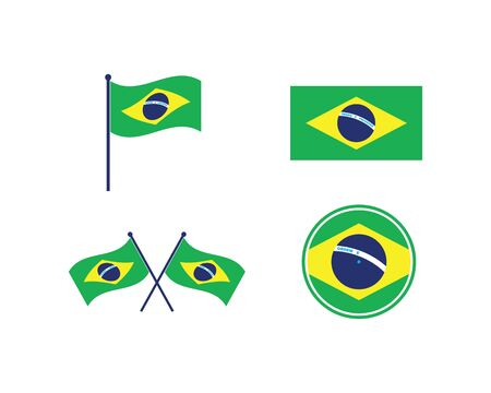 brazil flag vector illustration icon design