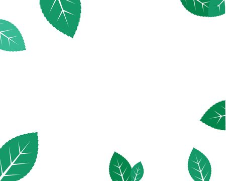 mint leaf illustration vector template design Ilustracja
