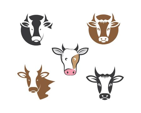cow logo vector illustration templat design Imagens - 134785234