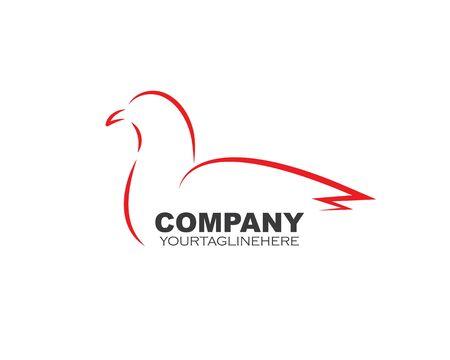 Swan logo Template vector illustration design Stockfoto - 134785441
