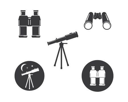 telescope icon vector illustration design template Stock Illustratie