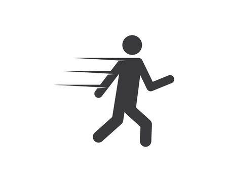 running people icon vector illustration design template Ilustrace