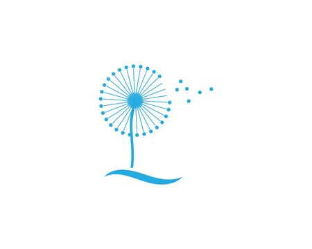 dandelion flower logo icon vector illustration Reklamní fotografie - 135425245