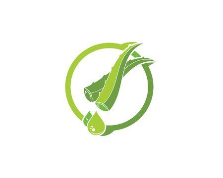 aloevera logo icon vector illustration design template