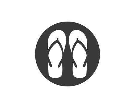 slippers vector icon illustration design template