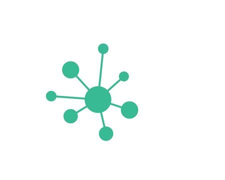 molecule logo vector illustration design template