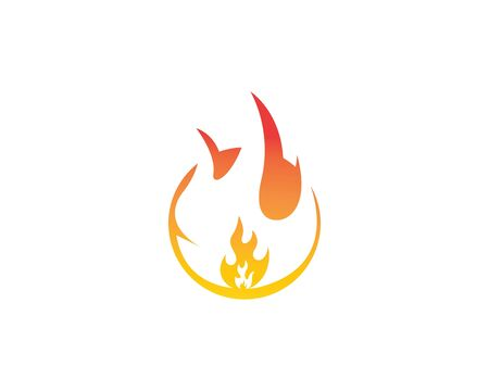 Fire flame Logo icon vector illustration design template