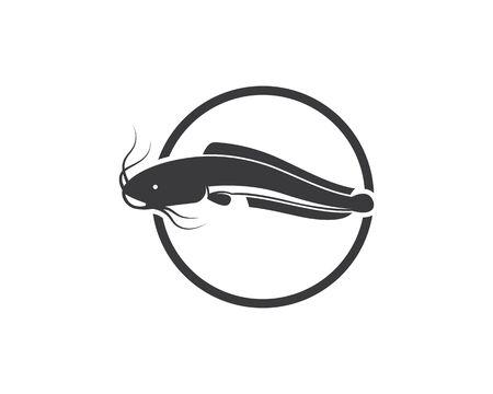 catfish vector icon illustration design template