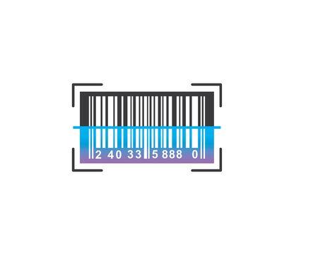 barcode vector icon illustration design template